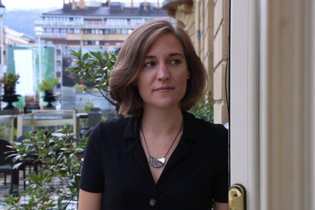 Primer pla de la directora catalana Carla Simón al Festival de Cinema de Sant Sebastià, el 21 de setembre del 2020 (horitzontal).