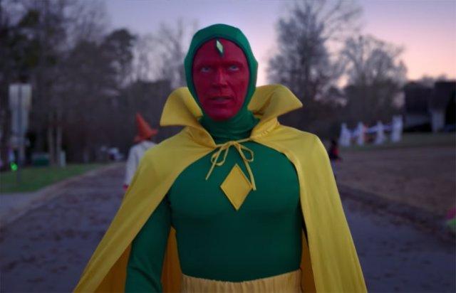 Los fans de Marvel flipan con traje clásico de Visión en el tráiler de WandaVision
