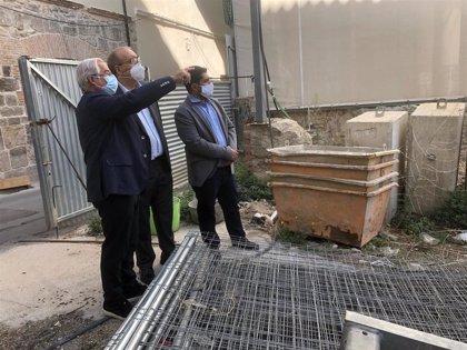 La DPT retoma las obras de ampliación del Museo de Teruel con la consolidación de taludes y cimentación