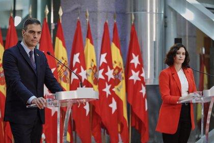 """Ayuso defiende que solo con """"actuaciones conjuntas"""" se controlará la pandemia y ve """"injusto"""" comparar datos de Madrid"""