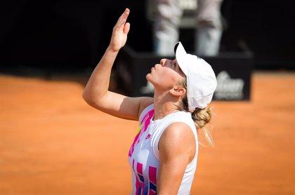 Tenis.-Halep se proclama campeona en Roma tras el abandono por lesión de Pliskova