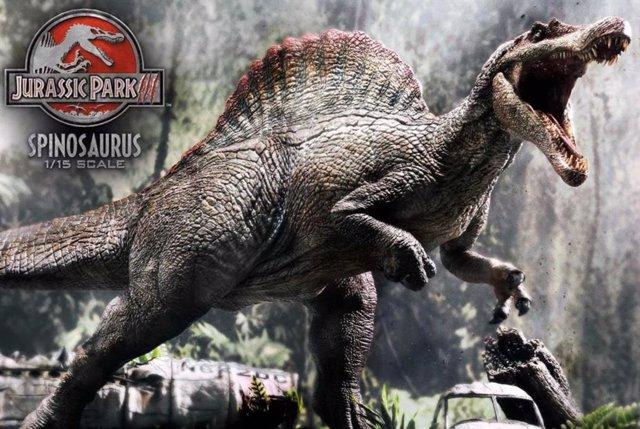 Spinosaurus recreado para Parque Jurásico III