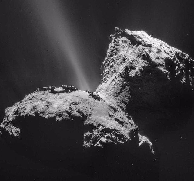 El cometa que visitó la misión Rosetta presenta una aurora única