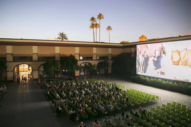 Imagen de archivo del cine de verano de la Diputación de Sevilla