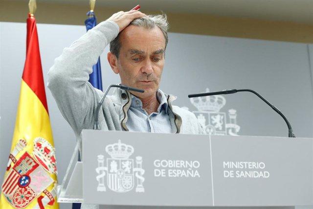 El director del Centro de Coordinación de Alertas y Emergencias Sanitarias, Fernando Simón, informa en rueda de prensa de la evolución de la COVID-19 en la Sede del Ministerio de Sanidad, en Madrid (España), a 3 de septiembre de 2020.