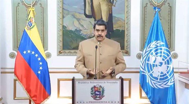 El presidente de Venezuela, Nicolás Maduro, en un mensaje a la ONU