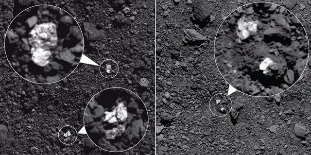 Rocas atribuidas al asteroide Vesta en la superficie de Bennu
