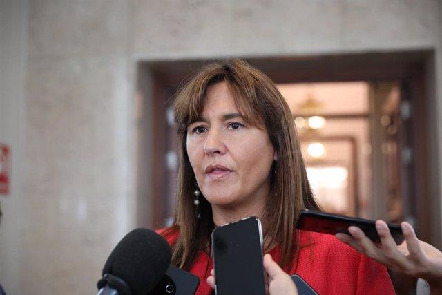 La portaveu de JxCat, Laura Borràs, al Congrés dels Diputats. Madrid (Espanya), 10 de març del 2020.