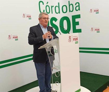 """El PSOE de Córdoba reprocha a Juanma Moreno """"que venga con las manos vacías"""" a la provincia"""