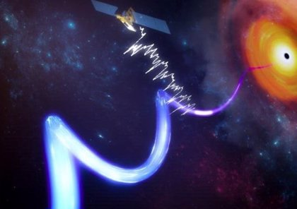 Un chorro relativista a solo cientos de kilómetros de un agujero negro