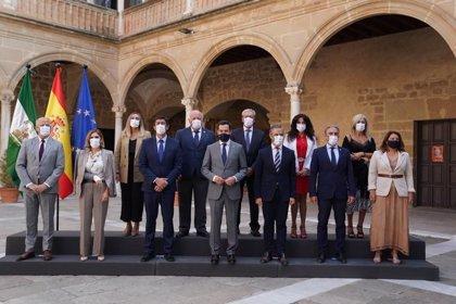 """Moreno anuncia 810 millones en los próximos dos años y medio para """"catapultar"""" la economía de la provincia de Jaén"""