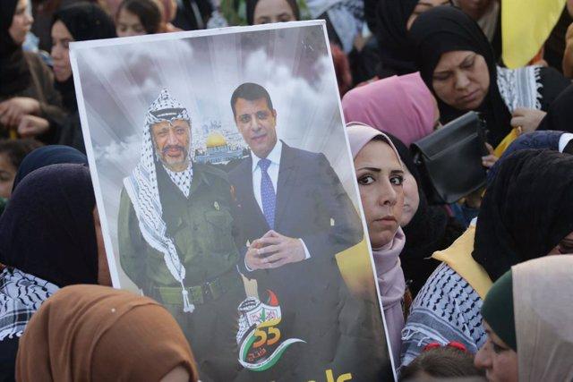 O.Próximo.- La Autoridad Palestina detiene a decenas de partidarios de Mohamed D