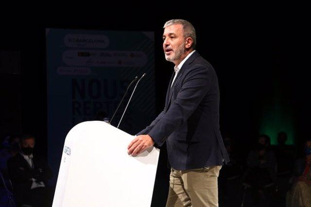 Pla mitjà del primer tinent d'Alcaldia de l'Ajuntament de Barcelona, Jaume Collboni. Imatge del 22 de setembre de 2020. (Horitzontal)