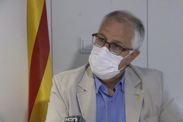 El gerent del Catsalut a Girona, Miquel Carreras, aquest 22 de setembre del 2020 durant l'entrevista amb l'ACN. Primer pla (Horitzontal)
