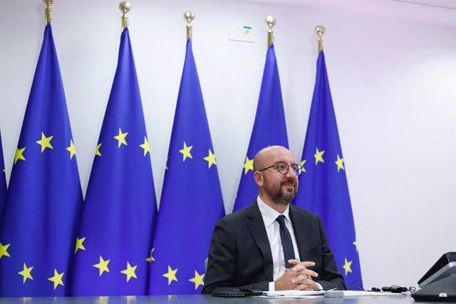 UE.- Aplazada la cumbre de líderes de la UE por el contacto de Michel con un enf