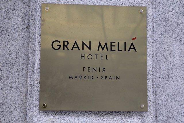 Cartel de uno de los hoteles de la cadena Meliá Hotels.