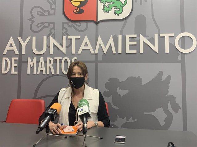 La concejala de Recursos Gumanos de Martos,  Lourdes Martínez