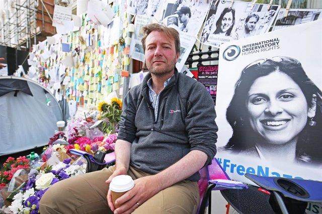 Richard Ratcliffe, esposo de la ciudadana británica, Nazanin Zaghari-Ratcliffe, condenada por conspiración en Irán