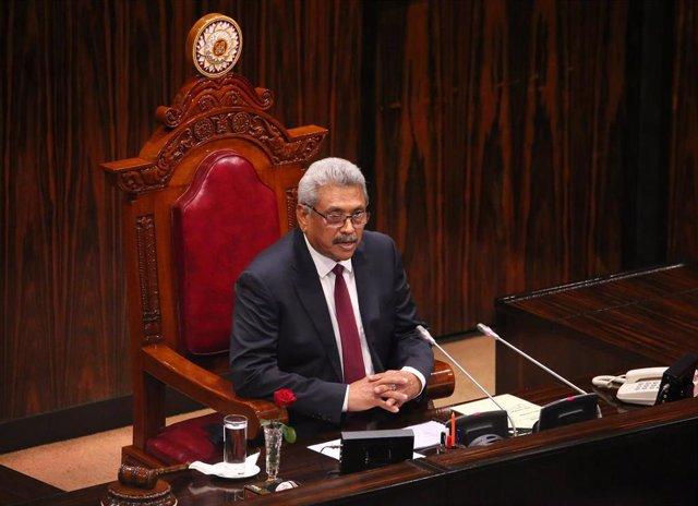 El presidente de Sri Lanka, Gotabaya Rajapaksa