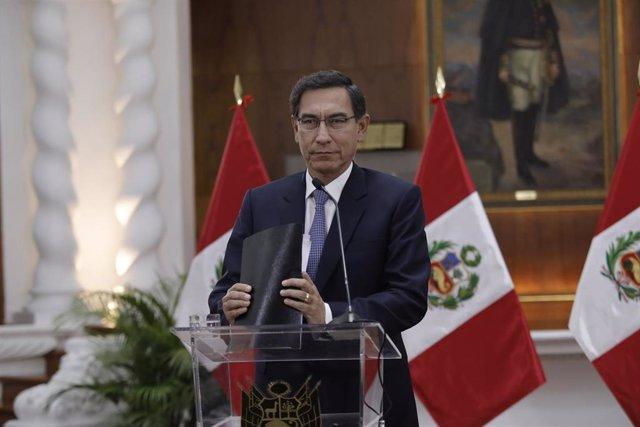 El pesidente de Perú, Martín Vizcarra.