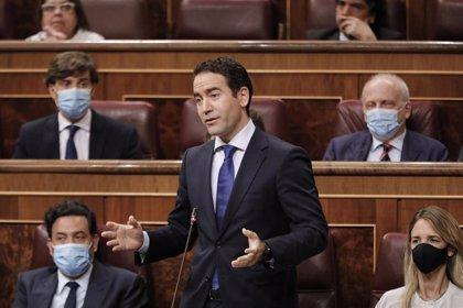 """Egea acusa al Gobierno de """"tratar mejor a Bildu que al Rey"""" por """"impedir"""" que acuda a Barcelona al acto de jueces"""