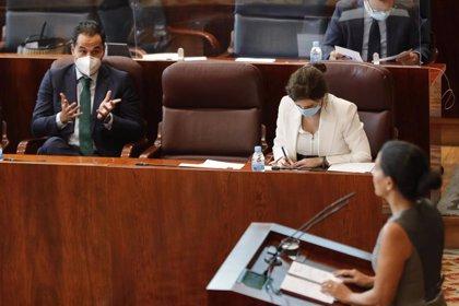 """Monasterio no ve ahora """"riesgo"""" de moción de censura pero acusa a Aguado de """"agitar la duda"""" por """"afán de protagonismo"""""""