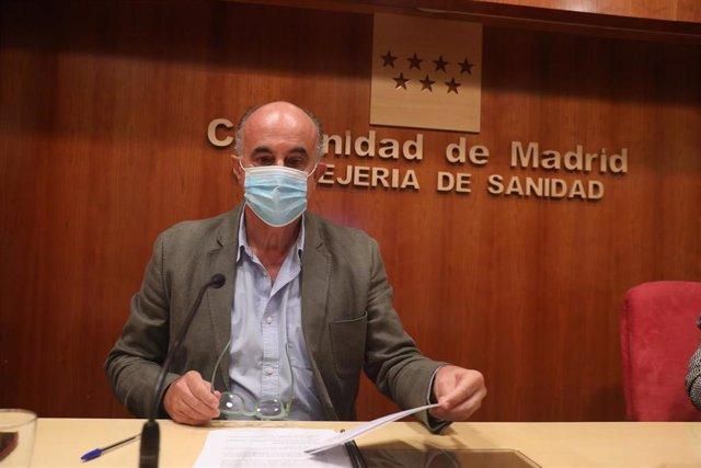 El viceconsejero de Salud Pública y Plan Covid-19, Antonio Zapatero, informa sobre la situación epidemiológica y asistencial por coronavirus en la Comunidad de Madrid