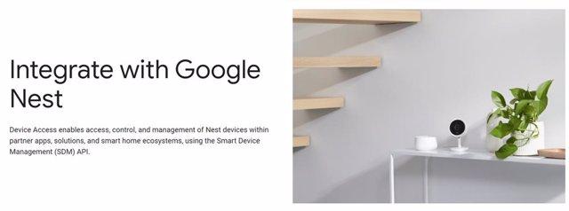 Google habilita la consola de su programa de acceso a dispositivos Nest para la