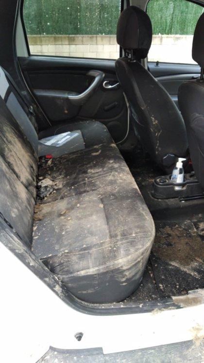 Jóvenes destrozan a pedradas un coche de Policía tras ser descubiertos haciendo un botellón en Fuente el Saz
