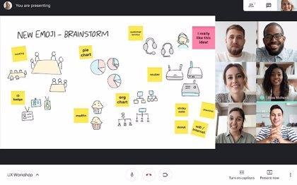 Google integra Meet con su pizarra digital Jamboard para el trabajo y las clases en remoto