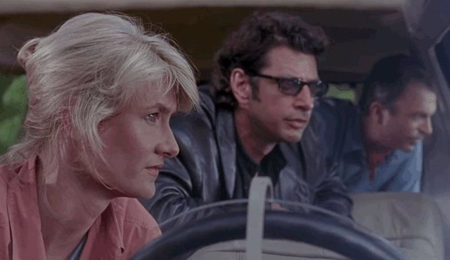 Jeff Goldblum, Laura Dern y Sam Neill, juntos en Jurassic Park