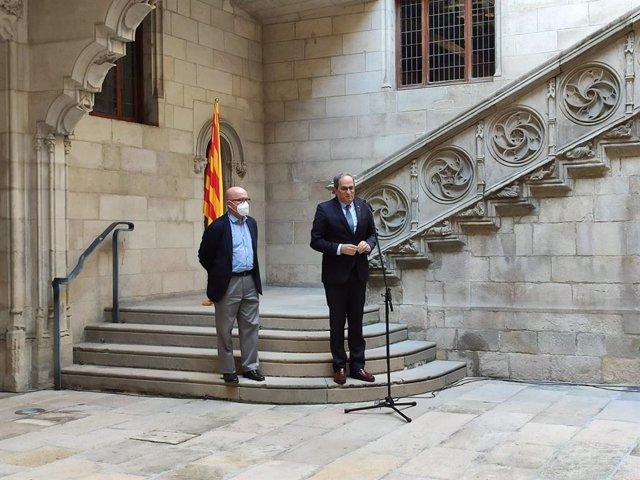 El president de la Generalitat, Quim Torra,  i el seu advocat Gonzalo Boye