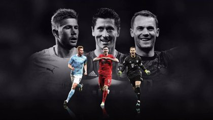 De Bruyne, Lewandowski y Neuer, candidatos a 'Mejor Jugador de la UEFA 2019/20'