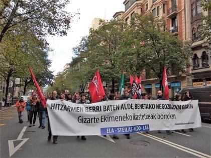 Sindicatos de Enseñanza no universitaria de Euskadi convocan una manifestación el 2 de octubre en las tres capitales