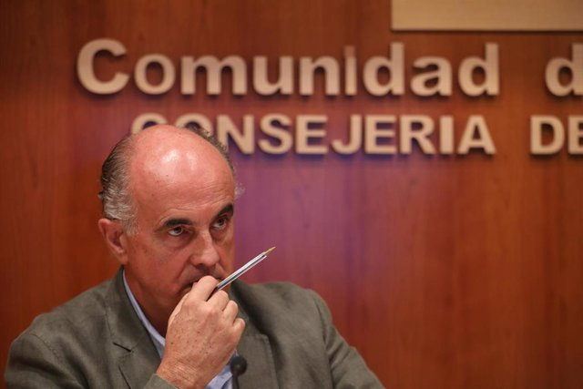 El viceconsejero de Salud Pública y Plan Covid-19, Antonio Zapatero, informa sobre la situación epidemiológica y asistencial por coronavirus en la Comunidad de Madrid, en la Consejería de Sanidad, en Madrid
