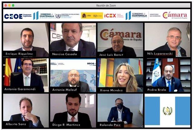 Garamendi (CEOE) destaca las oportunidades de inversión en Guatemala