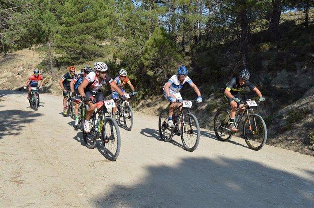 Ciclistas en la maratón BTT de 2019 en Cazorla