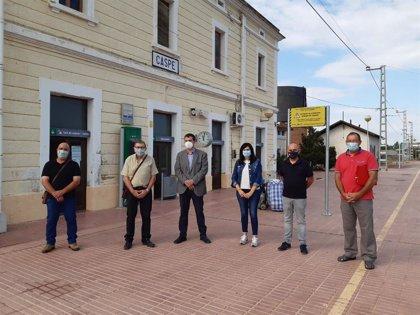 CHA reclama a Renfe la restitución de los servicios ferroviarios en Caspe y el resto de Aragón