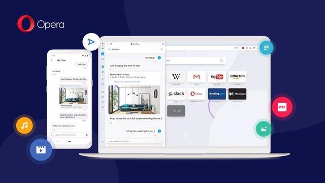 Opera habilita la sincronización entre Android y ordenador mediante códigos QR