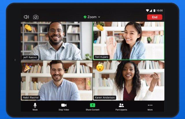 La aplicación móvil de Zoom para Android permite fondos virtuales y se integra c