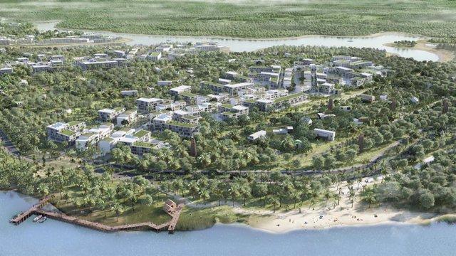 Simulación de la ciudad inteligente de Aguaduna