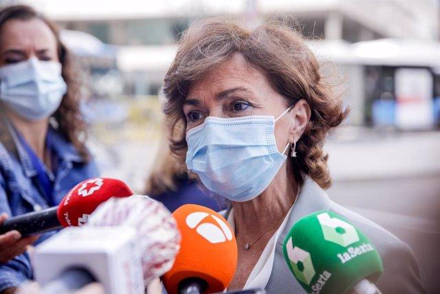 """VÍDEO: Calvo, sobre la ausencia del Rey en el acto de jueces en Barcelona: """"hay"""