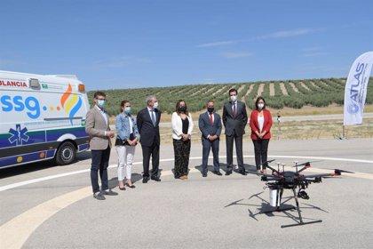 Demuestran en Villacarrillo que un dron con 5G permite asistencia sanitaria cuatro veces más rápida que una ambulancia