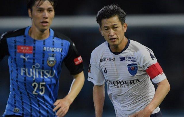 Fútbol.- El japonés Kazuyoshi Miura bate el récord de longevidad al disputar un