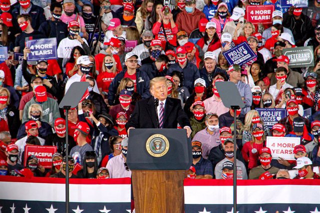 US President Trump campaign rally in Pittsburgh