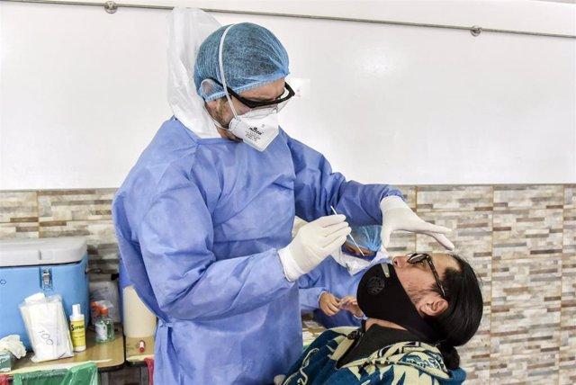 Prueba de coronavirus en Bogotá