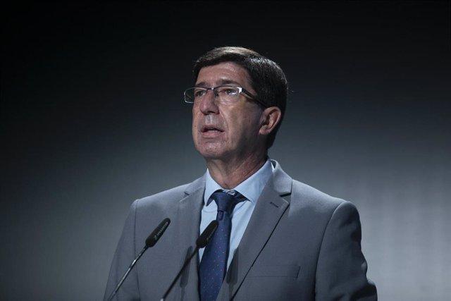 El vicepresidente de la Junta de Andalucía y consejero de Turismo, Regeneración, Justicia y Administración Local, Juan Marín