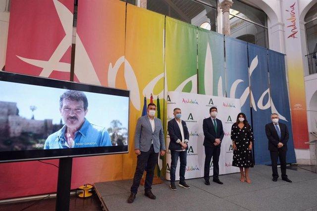Presentan la campaña turística de Andalucía que protagoniza Antonio Banderas.