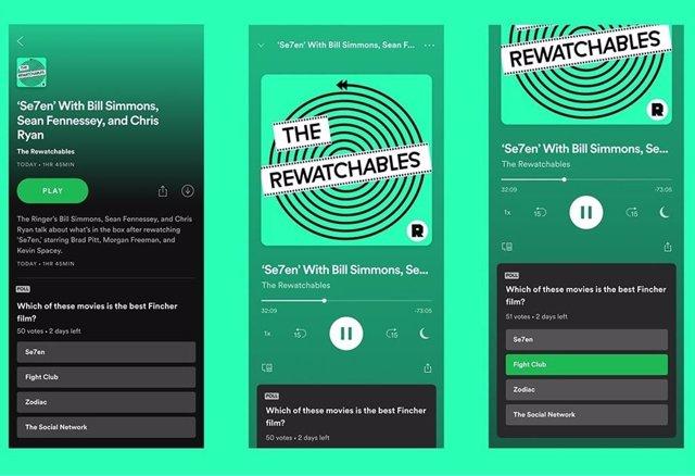Spotify anima la interacción con los 'podcasts' con las encuestas en tiempo real