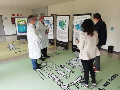 La exposición 'Los otros peces del río' llega a Estella para concienciar sobre la gestión de las mascarillas